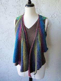 Ravelry: bananaknits' Noro Wingspan Vest    Now this is what I call innovative!