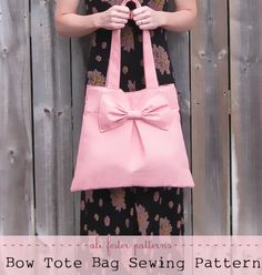 Bow Tote Bag Sewing Pattern