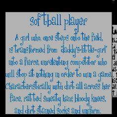 life of a softball player