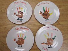 Crafty Thanksgiving Plates
