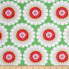 Michael Miller Holiday Ornaments for All Courtney Green from @fabricdotcom  From Michael Miller, this cotton print fabric is perfect for quilting, apparel, crafts and and home décor accents. Colors include green, white, hot pink, red and orange.