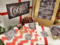 Free Printable hand drawn labels for foods and gifts