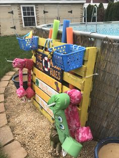 Pallets Pool Toy Accessories Organizer