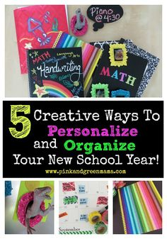 Head Back to School with 5 Creative Ways to Personalize and Organize Your New School Year!