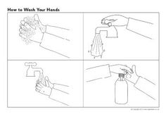 How to wash your hands sequencing sheets (SB8837) - SparkleBox