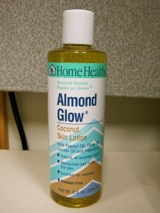 ALMOND GLOW, Coconut Skin Lotion.  This stuff is wonderful, and it smells sooo good!!!