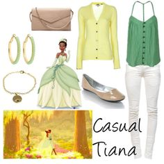 casual disney inspired outfits   Could you do a casual Tiana?
