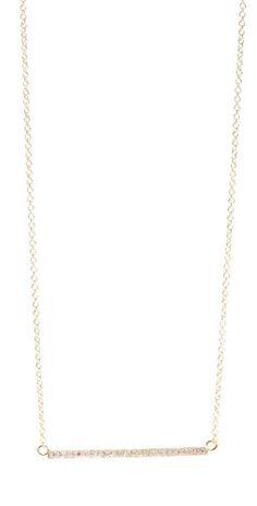 (Limited Supply) Click Image Above: Jennifer Meyer Jewelry 18k Gold Diamond Stick Necklace