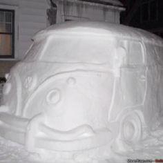 VW snow Bus