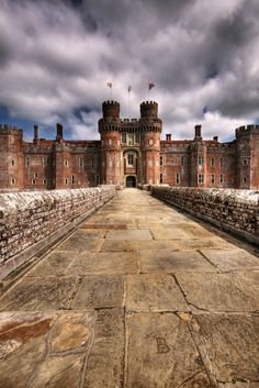 Herstmonceux Castle in East Sussex, England