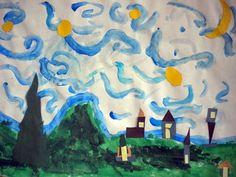 Artwork by Lauren (age 6), grade 1  Starry Night