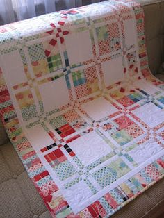 Disappearing four patch quilt- Tin Whistle