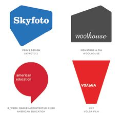 Logo trends of 2014. Logo style Solids