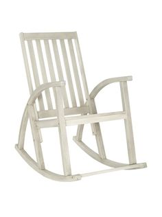 Because who DOESN'T need a rocking chair?   Safavieh Clayton Rocking Chair, White Wash at MYHABIT