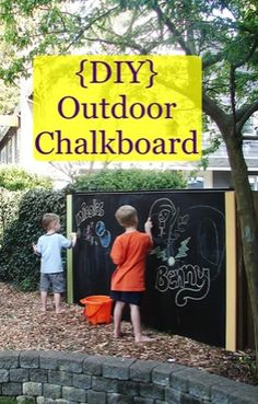Repinned: My House and Home: DIY outdoor chalkboard