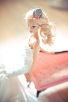 Didn't take Barbie for a wedding hat girl? Think again!
