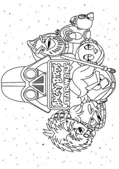 coloring page Angry Birds Star Wars - Angry Birds Star Wars