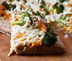 Cheesy Broccoli Pizza! Vegan Recipe.