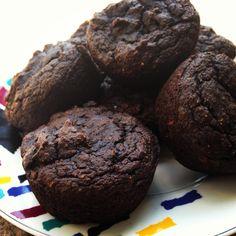 Chocolate avocado gluten free muffins