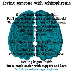 Loving someone with schizophrenia