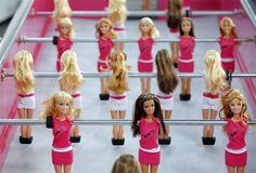 barbie foosball