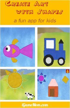 fun app for kids - create art with geometric shapes #kidsapps