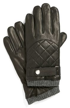 Black Quilted Racing Gloves