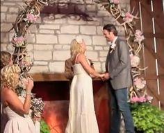 pink flowers, cowboy boots, antlers, blake shelton, country weddings, churches, wedding arches, boyfriends, miranda lambert