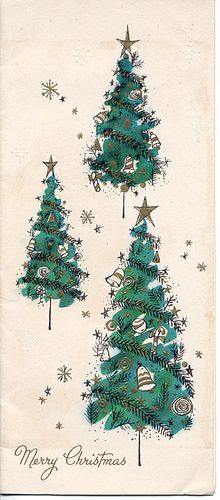 Mid-century Christmas Trees