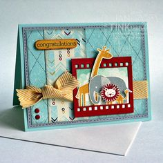 Cute Baby Congratulations Greeting Card with Elephant by JanTink