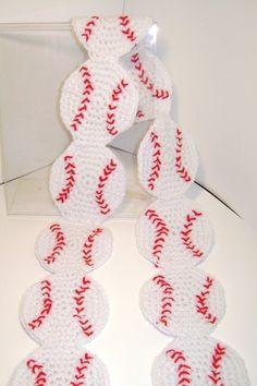 Crochet Baseball Scarf