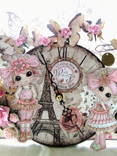 Something Beautiful By Julie: Tick Tock - My Clock is Anything but a Card!