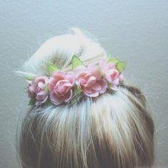 flowers updo