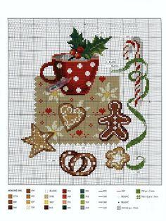 Christmas tea. Free sewing pattern graph.