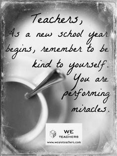 The myth of the super teacher--be kind to yourself!