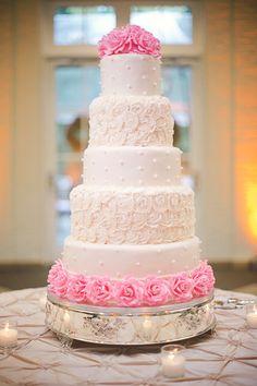 pink rose cake | Annabella Charles #wedding