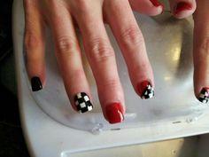 Racing nails! Too cute!!