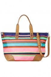This amazing multicolored Getaway bag expands for more space –it's the perfect weekend tote | Stella & Dot www.stelladot.com/juliaguillenwilliams
