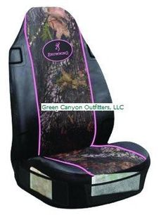 Girls Browning Camo Car Seat Covers