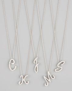 Roberto Coin - Diamond Initial Necklace $1200