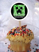 Minecraft Personalized Cupcake Toppers Set of 6