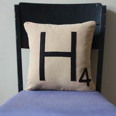 Letter H Pillow.