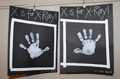 black paper, white paint - x-rays!