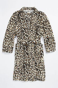 Leopard robe for Christmas morning.