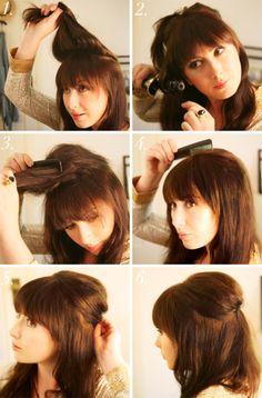 retro hair.