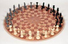 Three-Person Chess Set
