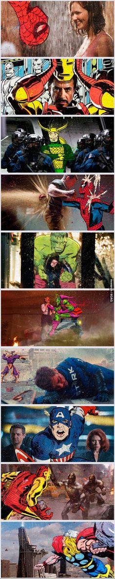 Superhero Movies/Comic Books Mash-Up