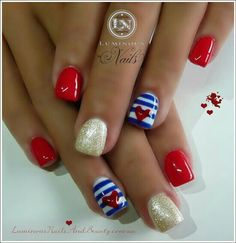 Great july 4th nails