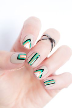 Edgy Geometric Nail Art – Tutorial
