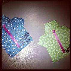 Origami Shirts for Door Decs